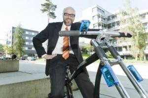 Прототип беспроводных тормозов тестируется на велосипеде