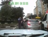 Велосипедист отомстил наглому водителю