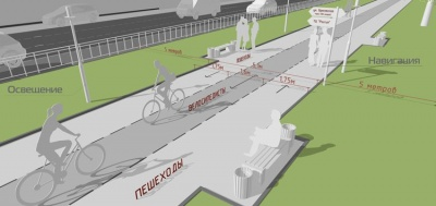 Велодорожка оживит аллею на Ленинском проспекте Барнаула?
